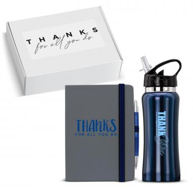 Thanks for All You Do Water Bottle & Journal Gift Box