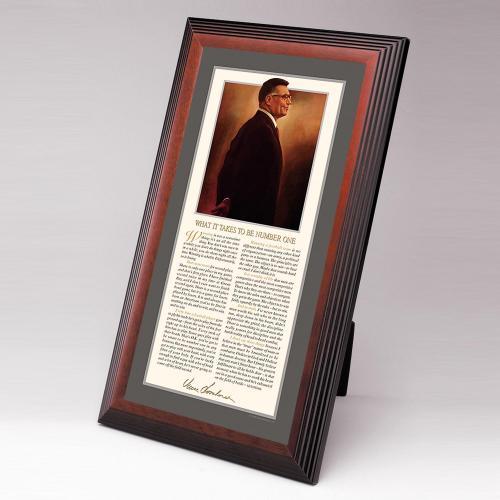 Lombardi Framed Desktop Print