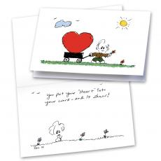 Heart in Your Work 25-Pack Greeting Cards