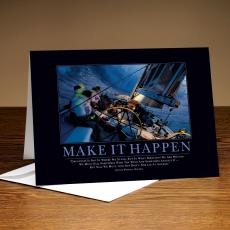 Classic Motivational Cards - Make It Happen Sailboat 25-Pack Greeting Cards