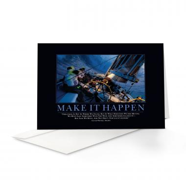 Make It Happen Sailboat Greeting Cards