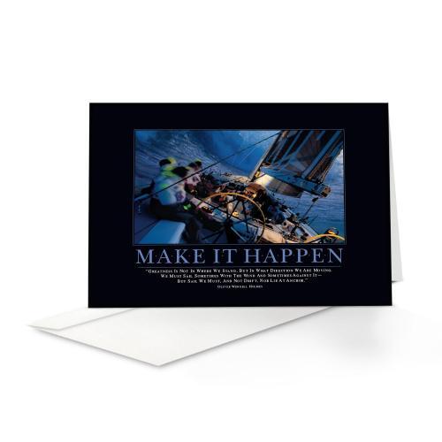 Make It Happen Sailboat Greeting Cards