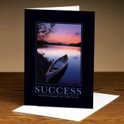 Success Canoe 25-Pack Greeting Cards  (726152)