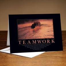 Classic Motivational Cards - Teamwork Rowers 25-Pack Greeting Cards
