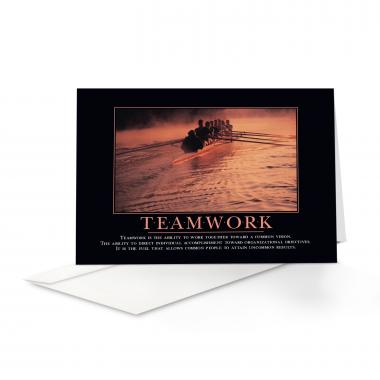 Teamwork Rowers Greeting Cards