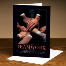 Teamwork Hands 25-Pack Greeting Cards