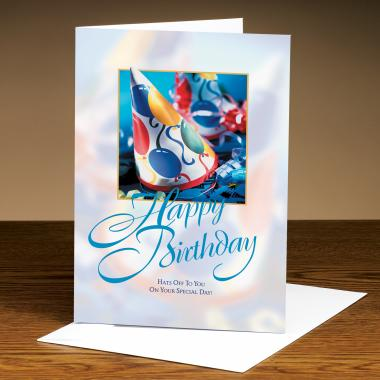 Happy Birthday Hat 25-Pack Greeting Cards