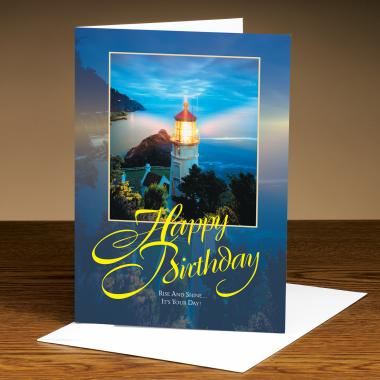 Happy Birthday Lighthouse 25-Pack Greeting Cards
