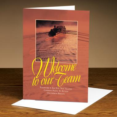 Welcome To Our Team Rowers Greeting Cards