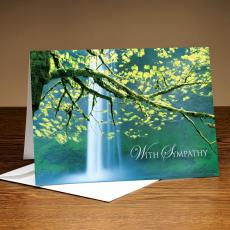 With Sympathy Waterfall 25-Pack Greeting Cards