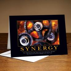 Classic Motivational Cards - Synergy Gears 25-Pack Greeting Cards