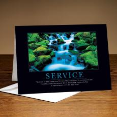 Customer Service Week - Service Waterfall 25-Pack Greeting Cards