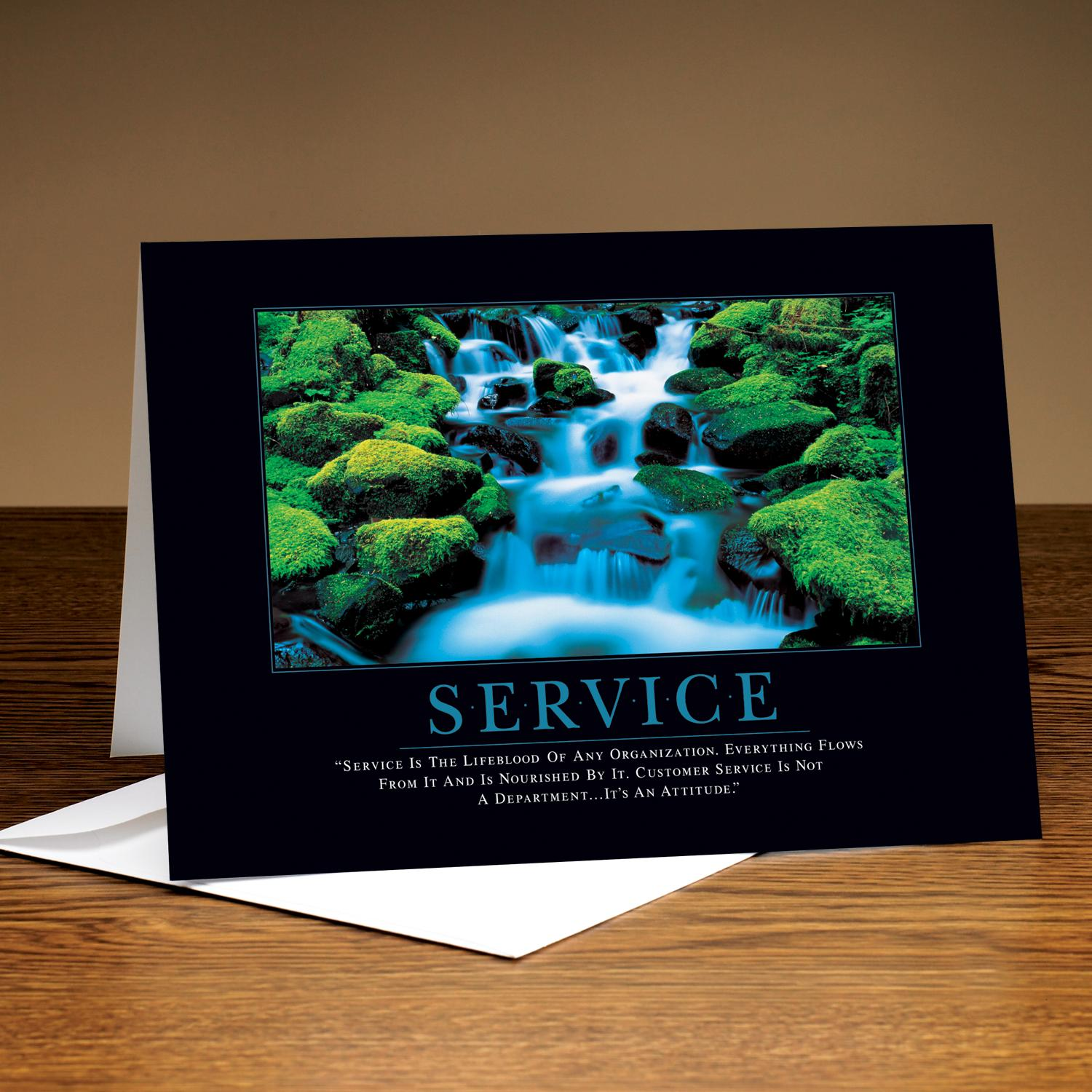 Service Waterfall 25-Pack Greeting Cards
