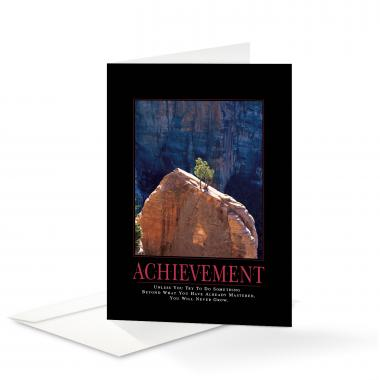 Achievement Tree Greeting Cards