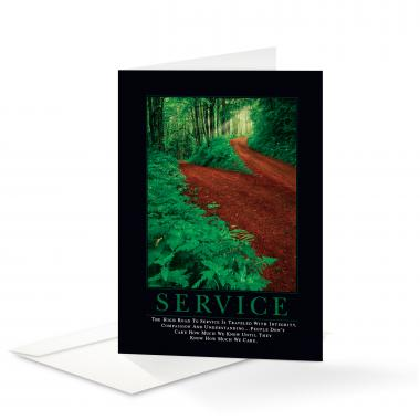 Service Path Greeting Cards