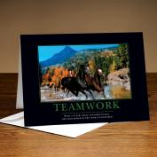 Teamwork Horses 25-Pack Greeting Cards Classic Motivational (726322)