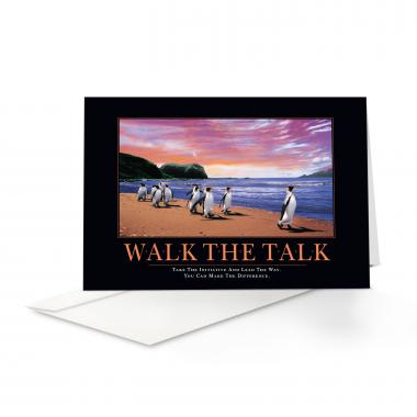Walk The Talk Penguins Greeting Cards