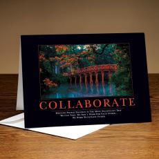 Classic Motivational Cards - Collaborate Bridge 25-Pack Greeting Cards