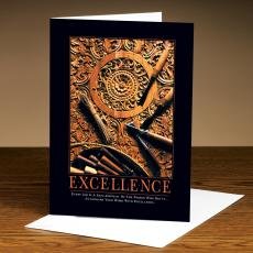 Classic Motivational Cards - Excellence Wood Carving 25-Pack Greeting Cards