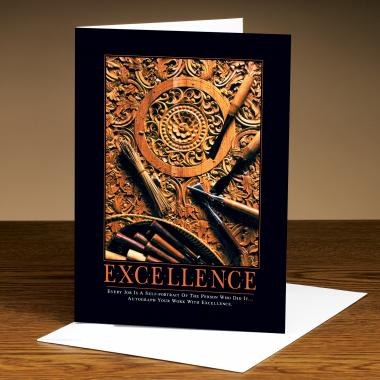 Excellence Wood Carving 25-Pack Greeting Cards