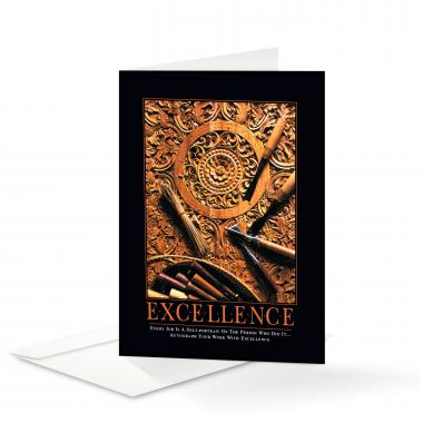 Excellence Wood Carving Greeting Cards