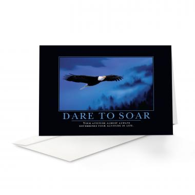 Dare to Soar Eagle Greeting Cards