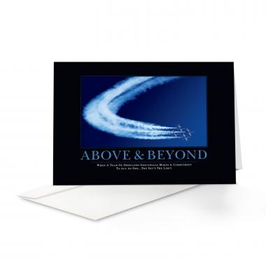 Above & Beyond Jets Greeting Cards