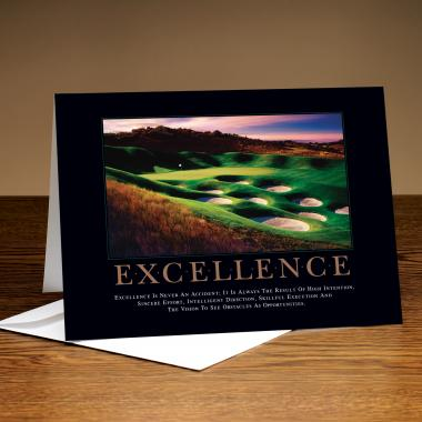 Excellence Golf 25-Pack Greeting Cards