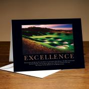 Excellence Golf 25-Pack Greeting Cards Classic Motivational (726423)