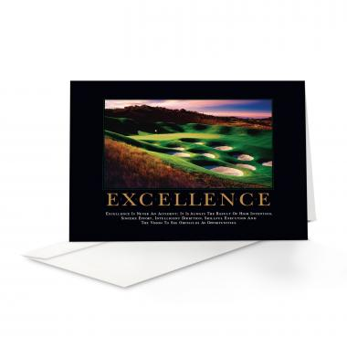 Excellence Golf Greeting Cards