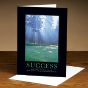 Success Morning Green 25-Pack Greeting Cards