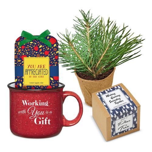 Holiday Gift Box - Cozy Winter Camp Mug Set - Cider