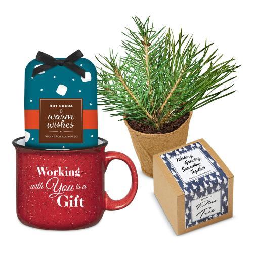 Holiday Gift Box - Cozy Winter Camp Mug Set - Cocoa