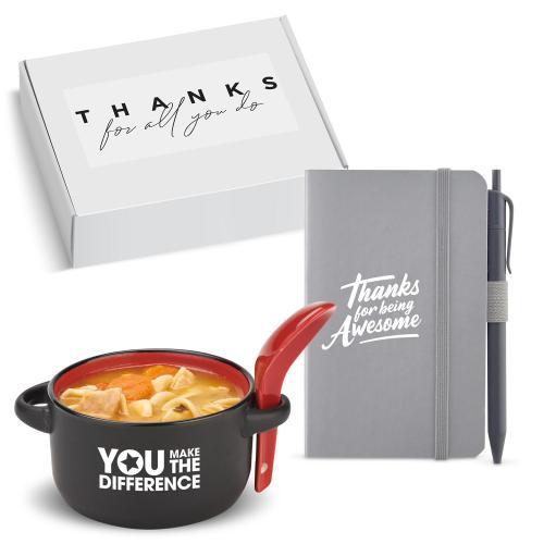 Thank You Gift Box - Heartwarming Soup Mug & Journal
