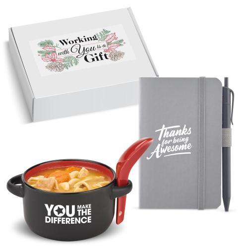 Holiday Gift Box - Heartwarming Soup Mug & Journal