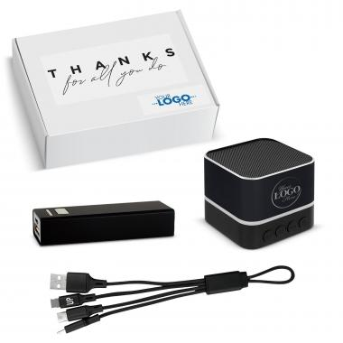 Thanks Gift Box - Custom Bluetooth Speaker Tech Set