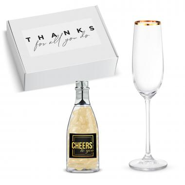 Thank You Gift Box - Champagne Glass & Jelly Beans