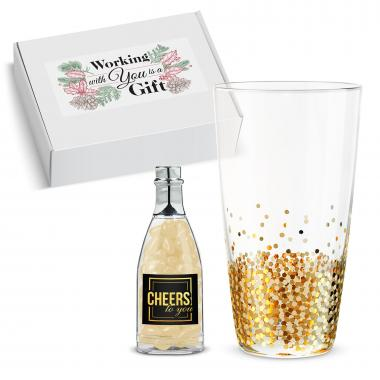 Thank You Gift Box - Celebration Glass & Champagne Jelly Beans