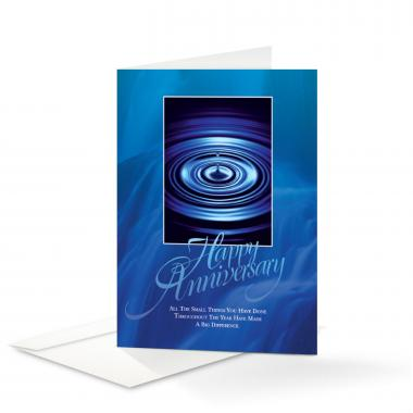Happy Anniversary Drop Greeting Cards
