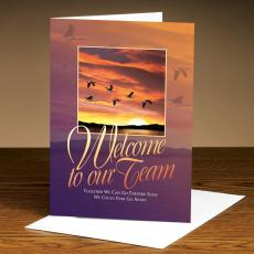 Employee Welcome Cards - Welcome Geese 25-Pack Greeting Cards