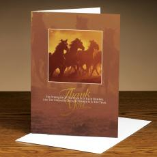 All Greeting Cards - Thank You Horses 25-Pack Greeting Cards