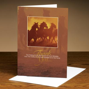 Thank You Horses Greeting Cards