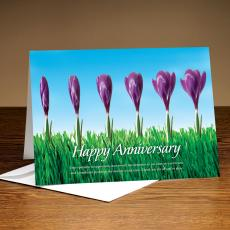 Happy Anniversary Flowers 25-Pack Greeting Cards