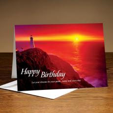 Happy Birthday Seashore 25-Pack Greeting Cards