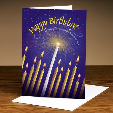 Happy Birthday Candles 25-Pack Greeting Cards