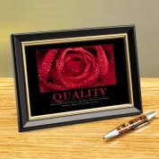 Quality Rose Framed Desktop Print