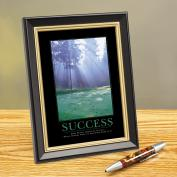 Success Morning Green Framed Desktop Print