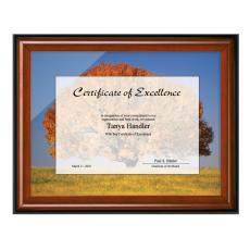 Cherry & Black Wood Certificate Frame