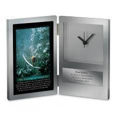 Engraved Clock Awards - Courage of Integrity Desk Clock