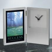 Success Morning Green Desk Clock